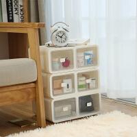 抽屉式收纳柜 塑料家用内衣分类整理盒多层带抽屉防潮透明储物柜