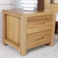 现代简约新中式床头柜床边迷你收纳柜实木北欧原木色斗柜