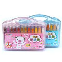 掌握WH-603 油画棒炫彩棒12色 24色 36色 可选 旋转丝滑炫彩笔油画笔