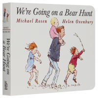 我们一起去猎熊 英文原版绘本 We're Going on a Bear Hunt 2-3-6岁儿童英语纸板撕不烂书 张