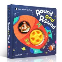 英文原版进口书 圆啊圆 Round and Round 幼儿左右脑开发书儿童早教益智书0-3-6岁宝宝启蒙认知书籍英文绘本趣味玩具书