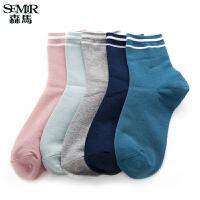 森马袜子女甜美清新韩版时尚百搭中袜少女运动袜子学生潮流短袜