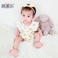 宝宝婴儿连体衣季三角哈衣00岁6月无包屁衣2季0新年