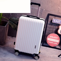 行李箱万向轮拉杆箱旅行箱密码箱包男女皮箱登机箱202428寸 磨砂白色(new) 20寸