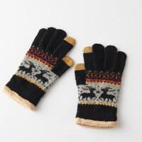 韩版可爱学生款针织秋天冬季保暖触摸屏触控毛线女士手套