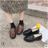 ins小皮鞋女复古冬季新款韩版英伦风加绒百搭平底学生单鞋子