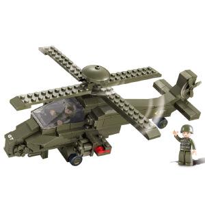 """【当当自营】小鲁班陆军部队2军事系列儿童益智拼装积木玩具 """"雌鹿""""直升机M38-B0298"""