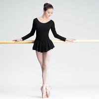 新款女士芭蕾舞蹈练功服古典舞连体衣形体训练服教师裙服体操服
