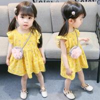 女童连衣裙1宝宝2公主夏装3儿童装4周岁半岁小孩女孩夏天裙子 黄色