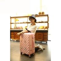 棱格拉杆箱包万向轮行李箱子母旅游箱硬箱女20寸24寸28 樱花粉 20寸
