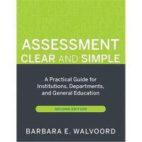 预订 Assessment Clear and Simple: A Practical Guide for Instit