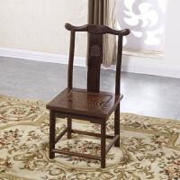 古典家具木椅子实木官帽靠背椅中式餐椅学习小椅子 餐椅 坐高45整高95面宽40深度39