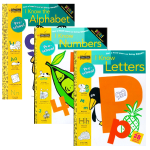 正版 I Know the Alphabet Letters Numbers 我认识字母+数字3册 英文原版金色童书