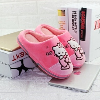 迪士尼hellokitty女童卡通棉拖鞋 宝宝学步鞋保暖防滑可爱地板拖肉粉中童