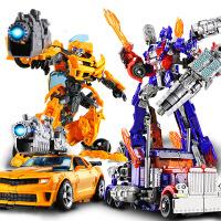 【限时抢】合金变形玩具金刚5擎天黄蜂汽车机器人模型变形儿童节礼物
