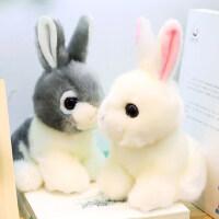 可爱小白兔公仔仿真兔子毛绒玩具兔兔布娃娃儿童玩偶女孩生日礼物