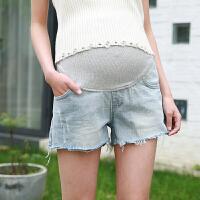 孕妇牛仔短裤女夏季薄棉质孕妇夏装打底裤牛仔裤托腹外穿2018潮妈 8269浅蓝