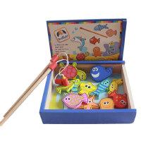 木制益智玩具 磁性钓鱼玩具 游戏早教木质