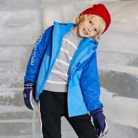 小猪班纳童装男女童2019春秋新款外套儿童冲锋衣两件套中大童防风