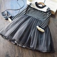 韩国 女童针织毛衣裙2018春装新款儿童韩版打底裙长袖公主连衣裙