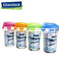GlassLock/三光云彩 韩国进口500ml钢化乐扣玻璃水杯茶杯环保RC105 无绳橙色