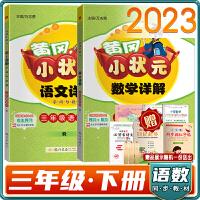 2021春黄冈小状元详解语文数学三年级下册2本套装人教版RJ同步教材全解三年级语数