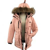 户外2018新款冬季羽绒服女 宽松中长款毛领大码工装加厚滑雪服男新品