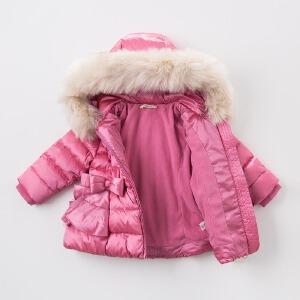 davebella戴维贝拉冬季羽绒服 女童加厚保暖羽绒服DB5938