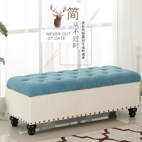 欧式收纳凳储物箱服装店沙发凳子长方形换鞋凳坐凳实木鞋柜可坐人 1