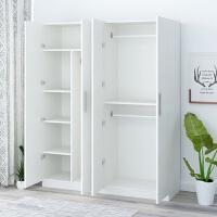 衣柜子简约现代经济型单人大小租房宿舍简易卧室组装实木板式衣橱 4门 组装