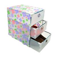 金属边环保PP三层抽屉收纳盒/抽屉式收纳柜透明衣柜收纳盒整理盒 储物箱塑料收纳箱款式随机