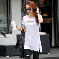 【新品抢鲜】Coolmuch女短T夏季宽松百搭棉质中长款圆领短袖T恤衫大码ZR6201