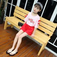 童装女童夏装两件套短袖短裤夏款潮儿童运动套装