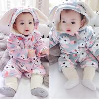 婴儿连体衣服春秋冬季男宝宝新年冬装春装1百天0岁3个月6过年喜庆