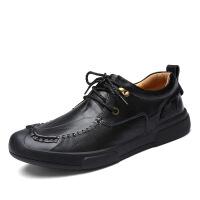 新款男士休闲皮鞋男手工英伦潮流时尚透气男鞋时尚休闲鞋潮鞋