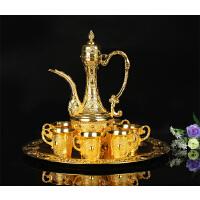 合金金色8件套酒具套装欧式仿古酒具套件装饰摆件s5o