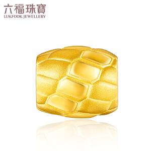 六福珠宝足球系列绿茵场黄金转运珠足金串珠男定价L01A1TBP0037