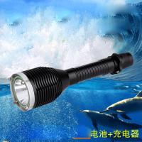 潜水手电筒26650手电筒 强光L2潜水500米潜水手电筒 强光照