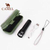 骆驼强光手电 远射多功能可变焦可充电小型便携户外家用手电