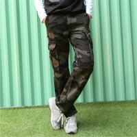 新款时尚男士工装裤潮流迷彩裤多口袋裤