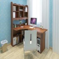 【满减优惠】儿童转角书桌书柜书架组合简约经济拐角多功能台式家用一体电脑桌