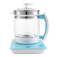 先科(SAST)养生壶 煮茶器 煮茶壶 烧水壶 电热水壶 加厚玻璃花茶壶1.5L 白色 蓝色 XH-910A