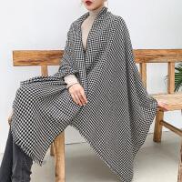 上海故事英伦千鸟格围巾男女通用春秋长款羊毛围巾欧美格子披肩夏季空调围巾