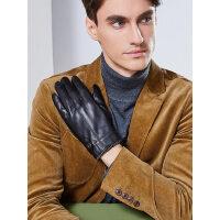 真皮手套男加绒加厚触屏开车驾驶羊皮手套户外骑行保暖