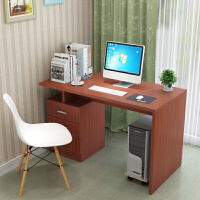 学习桌简约现代家用台式电脑桌 带书架书桌组合 办公桌环保写字桌B
