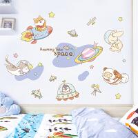 卡通墙贴儿童房布置贴画宝宝卧室床头背景墙装饰壁画衣柜房门贴纸
