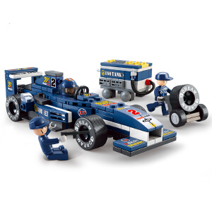 【当当自营】小鲁班F1方程式赛车系列儿童益智拼装积木玩具  1:32F1蓝光赛车M38-B0351