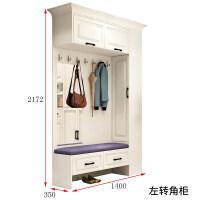北欧式鞋柜门厅柜衣帽柜简约现代转角储物衣柜客厅隔断玄关柜组合 组装