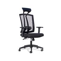 乐冉办公椅家用电脑椅子职员员工椅网布透气升降转椅会议椅弓形椅 T 钢制脚 固定扶手