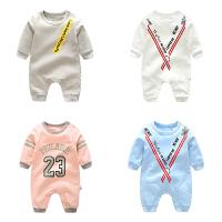 婴儿童连体长袖卫衣春装1岁3个月童宝宝新生儿季外出衣服